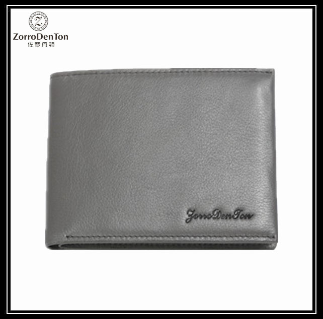 Factory sale imported leather wallet's rfid human leather wallet
