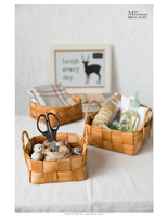 Wholesale cheap art woven fruit gift natural wood basket