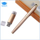 Gold metal engraved logo pens roller ink pen with box usb flash drive pen set for office gift