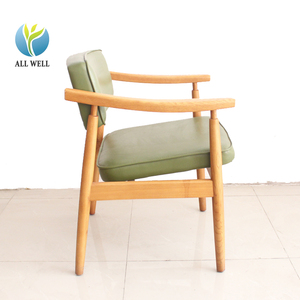 solid wood frame upholstered armchair wooden