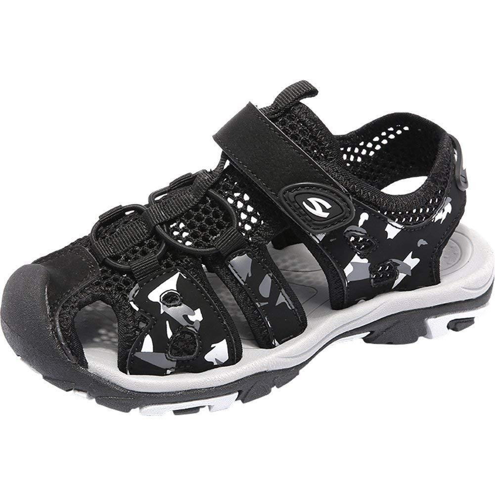 VECJUNIA Boys Girls Lightweight Closed-Toe Athletic Sandals Running Toddler