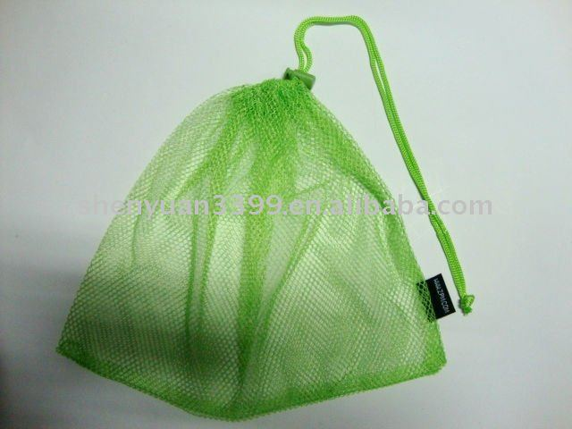 Simple Green Mesh Drawstring Bag - Buy Nylon Mesh Drawstring Bags ...