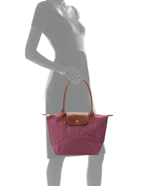 e6df0f7cae02 Get Quotations · Longchamp Pliages Fig Medium Tote Bag Purse