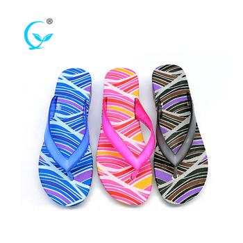 4dd2c2fd4 One dollar fashion plain flat eva pvc slipper shoes sticky flip flops