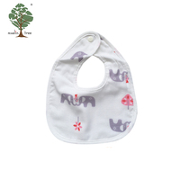 Muslin tree custom animal fancy 100% cotton boy girl white baby bibs