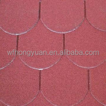 Fish Scale Asphalt Roofing Shingles Red Roofing Tar
