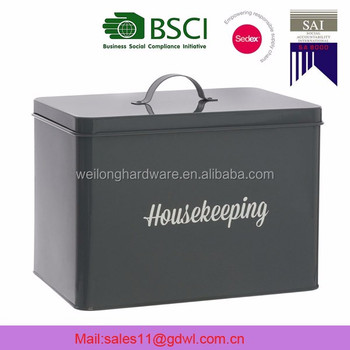 High Quality Black Powder Coating Housekeeper Cleaning Metal Storage Box.  View Larger Image