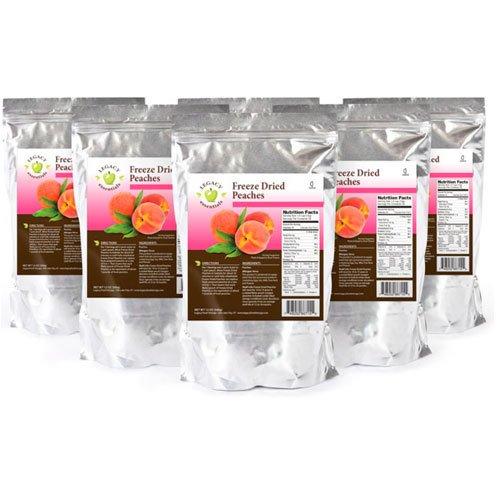 Legacy Essentials Freeze Dried Peaches - 15 Year Shelf Life for Emergency Prepper Food Storage Supply - Bulk Ingredients (Quantity 6)