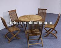 Foldable table and chiar+teak wood furniture