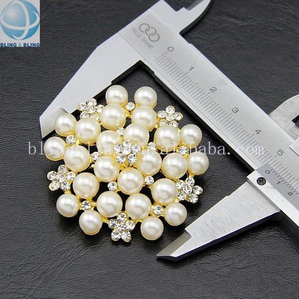 2016 Wedding Round Pearl Brooch,Oem/odm Custom Brooch