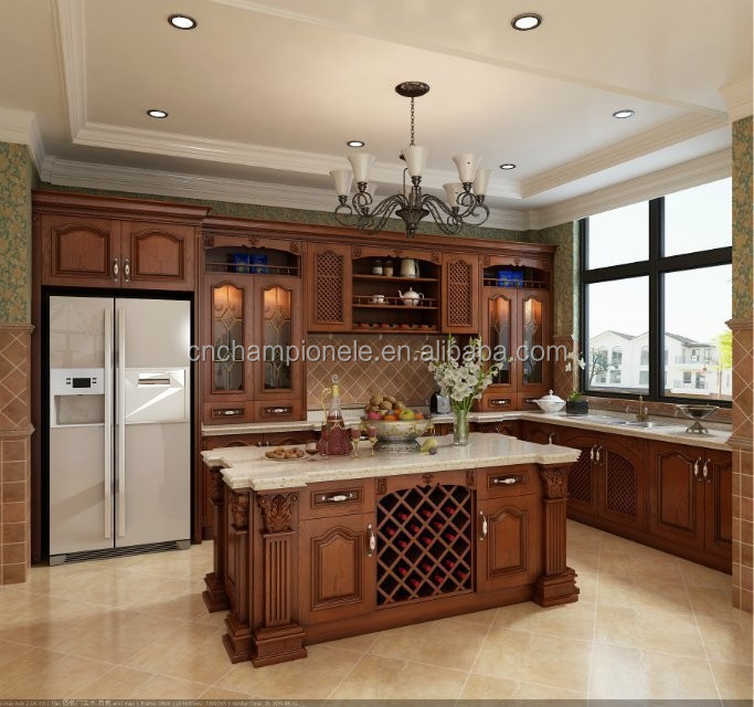 Cleaning Kitchen Cabinets Wood: 2015 Hot Cleaning Wood Kitchen Cabinet With Marble