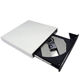 White NEW Slim USB 2.0 External Slim USB 2.0 CD-ROM Drive for ASUS Eee PC 900HA 900 901 904HA 1000HE 1000 1002HA 1005HA 1008HA N10J-A2 N10J-A1 N10Jc-A1 sereis Laptops