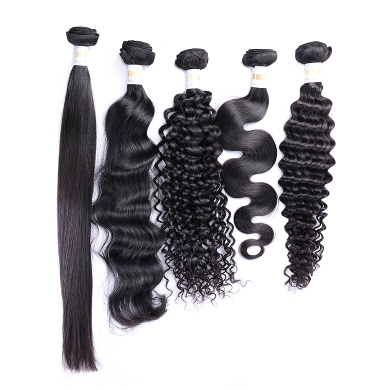 2019 RLN Hot selling 100% brazilian remy/virgin human hair high quality hair bundle body/loose/deep/curly/water weave weft, 1b natural black