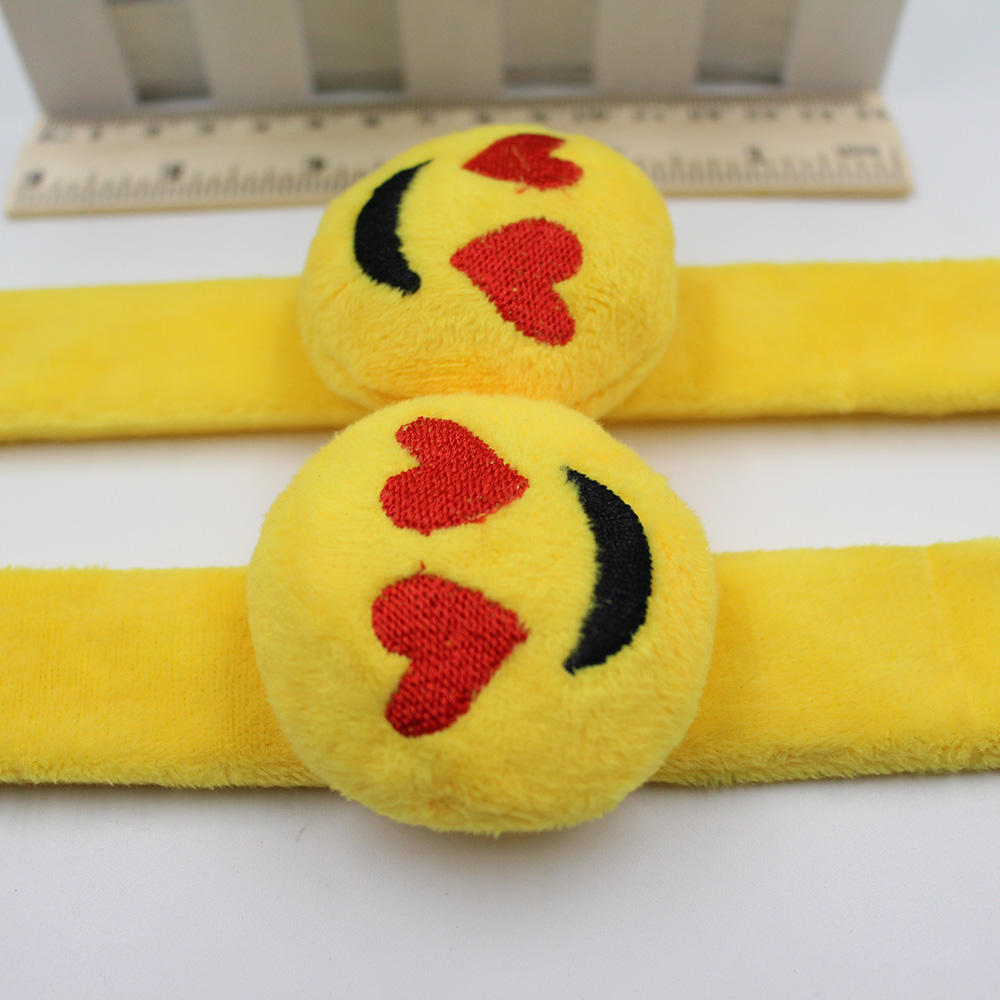 Hot Selling Slap Band Customized Cheap Plush Emoji Slap Children Bracelet