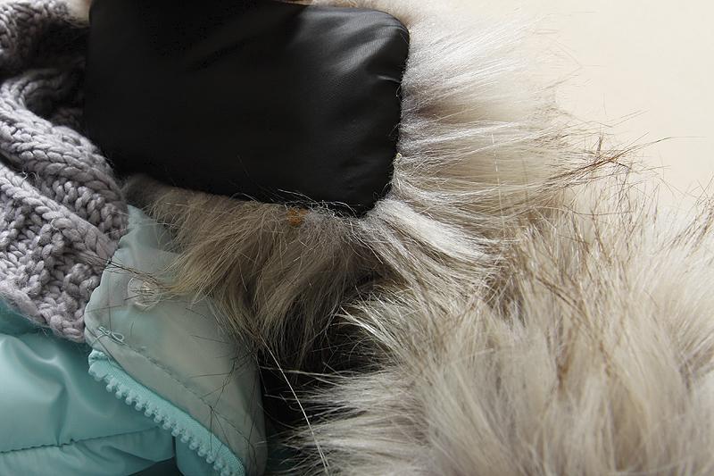 2014 נשים חדשות חורף עם ברדס קצר עיצוב צמר גפן מעיל גדול פרווה צווארון מעיל כותנה מרופד הלבשה עליונה LG222