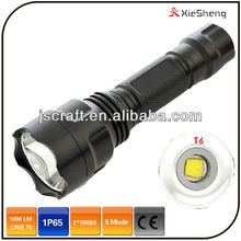 classical 3.7v 10 watt rechargeable battery C8T6 1600 lumen led rechargeable flashlight