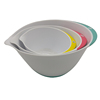 Cheap multi color 3pcs deep bottom Pp plastic salad mixing bowl