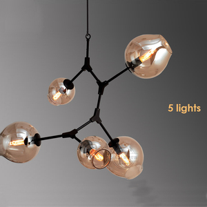 Modern Lindsey Adelman Bronze Antique Aluminum Tree Branch Glass Bubble Ball Chandelier
