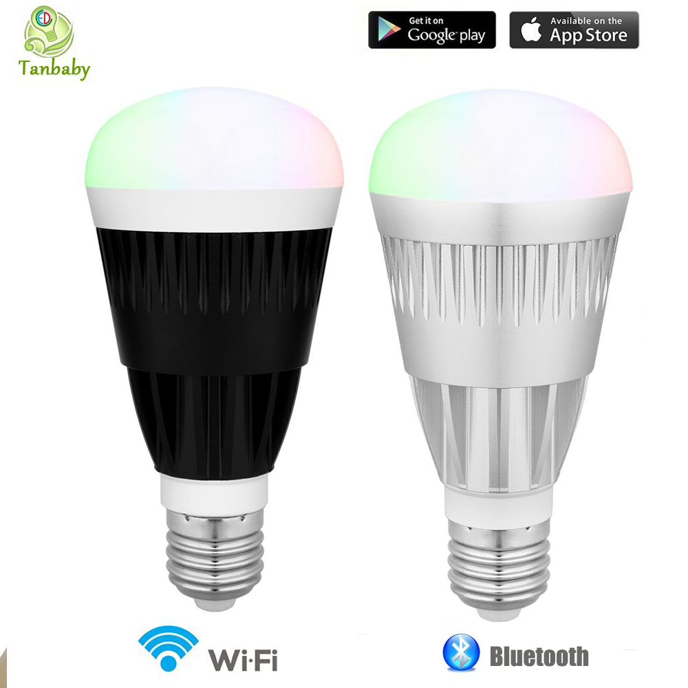 tanbaby 10w smart led bulb wifi bluetooth wireless remote control led light lamp rgb white. Black Bedroom Furniture Sets. Home Design Ideas