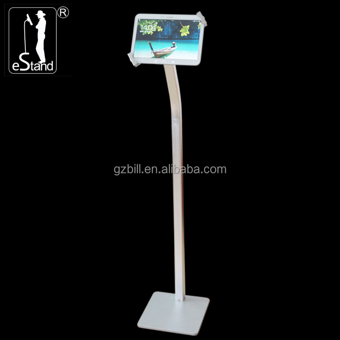 eStand BR22022Q ground key stand aluminum mount enclosure for Huawei tab <strong>payment</strong> kiosk