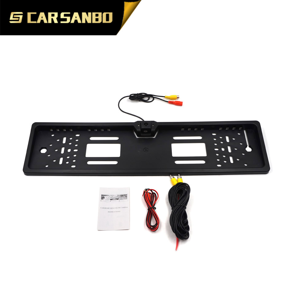 CAM213 European car license plate rear view camera with 7070 chips
