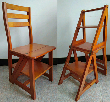 silla escalera de madera precio