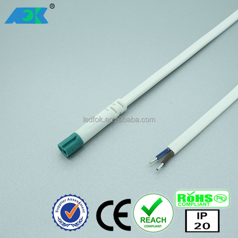 LED ceiling light gu10 COB 3W cabinet spot light with Dongguan FOK 2 pin wiring harness connectors