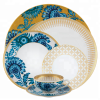 Wholesale portuguese ceramic dinnerware porcelain dinner sets gold plated tableware