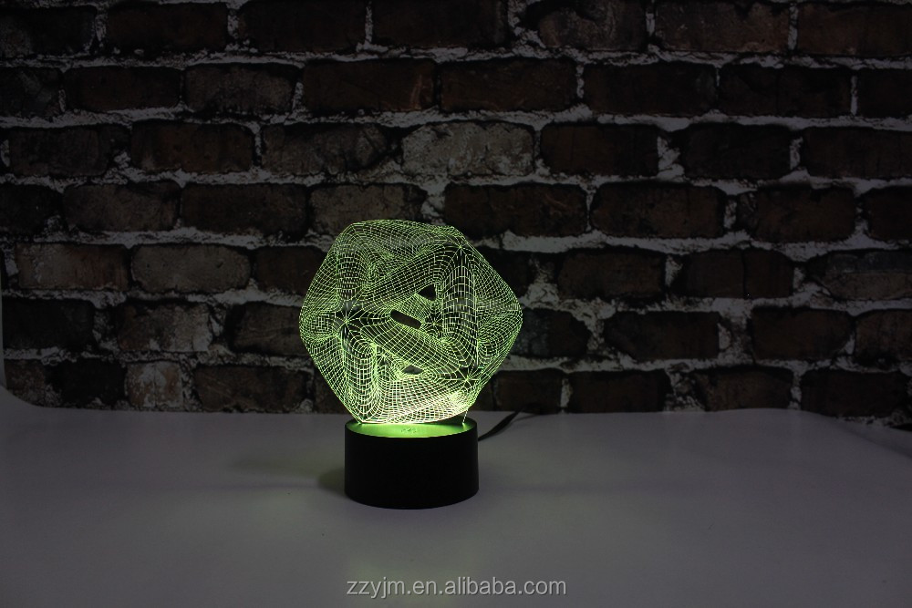 3D Abstraction 13 Polygon Decorated LED Table Lamps with Touch Control YJM-2897