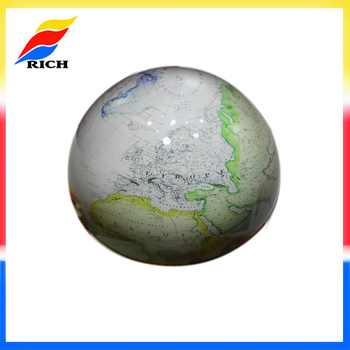 Promotional Mm Round World Map Glass Dome Paperweight Buy - Round world map image