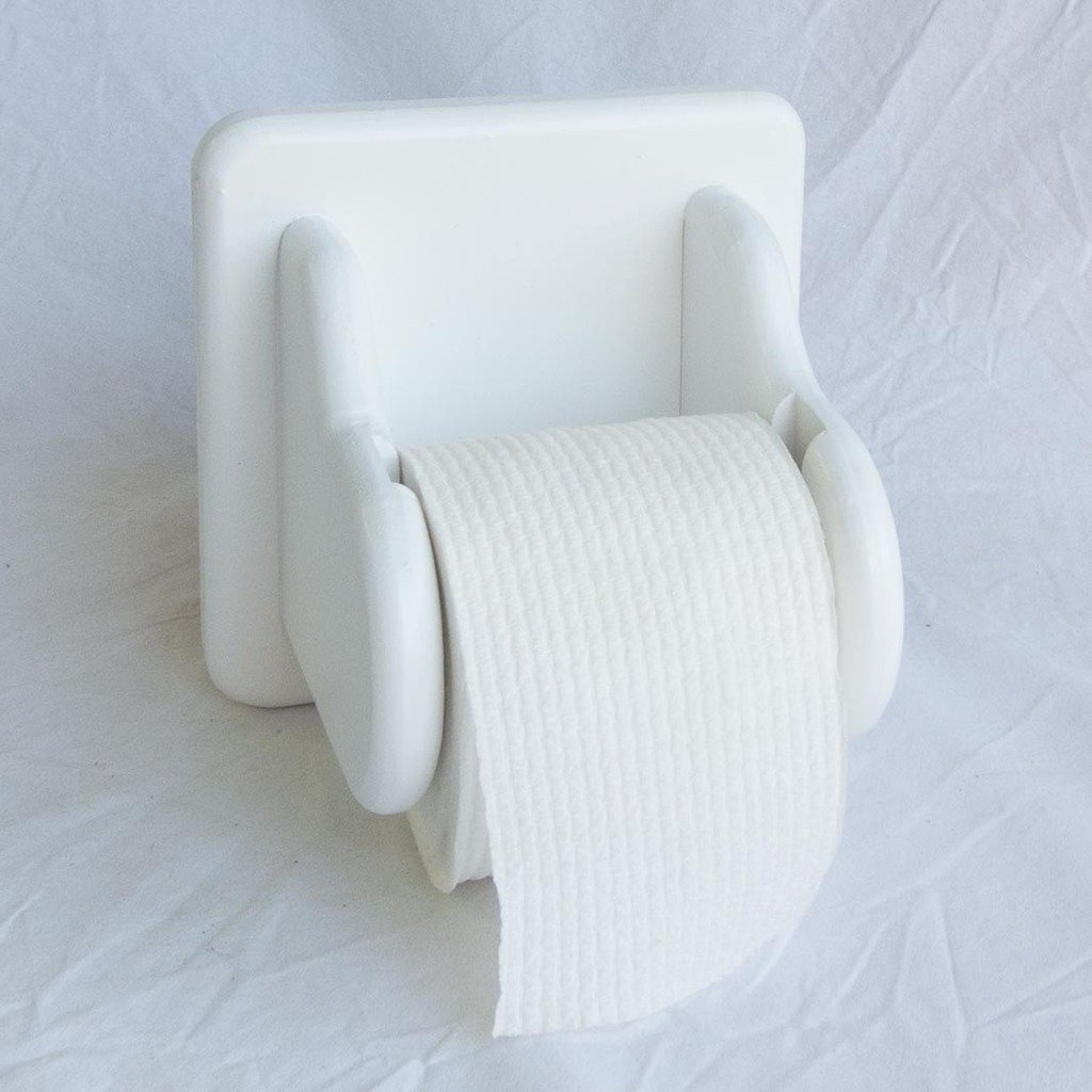 Get Quotations · Toilet Paper Holder U2013 Wooden U2013 Square Back U2013 Wooden  Drop In Spindle U2013 Holds