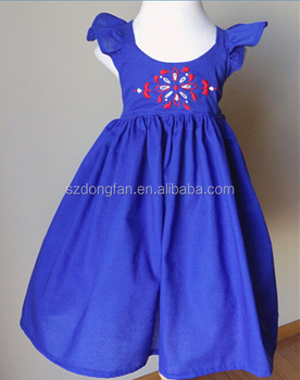 01e90559f22d Hand Embroidered Dress Summer Flutter Sleeves Frock Design For Baby ...