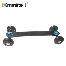 Commlite High Quality Super mute Camera Rail Car Dolly Skater Wheel Truck Slider for DSLR Camera Video Monitor