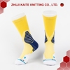 D-S-0001 Fashion yellow unisex compression socks crew men sport socks high quality custom zhuji