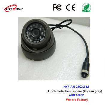 3 inch Korean gray hemisphere camera 1080p metal bus camera support custom