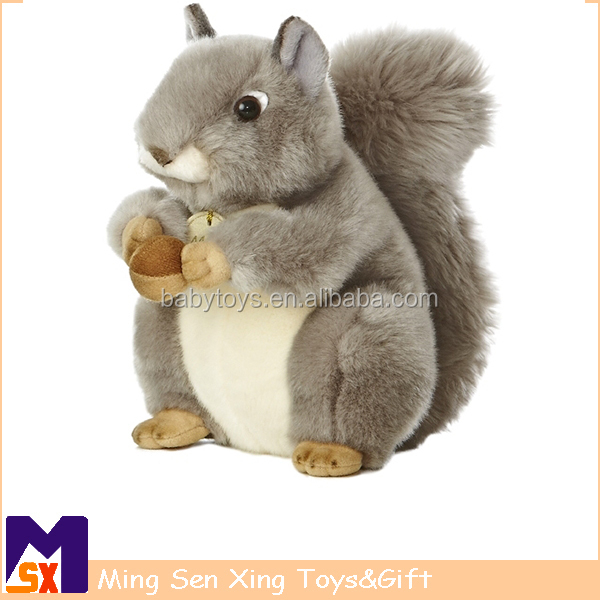 High quality Soft Plush Animal Squirrel Toy for Kids
