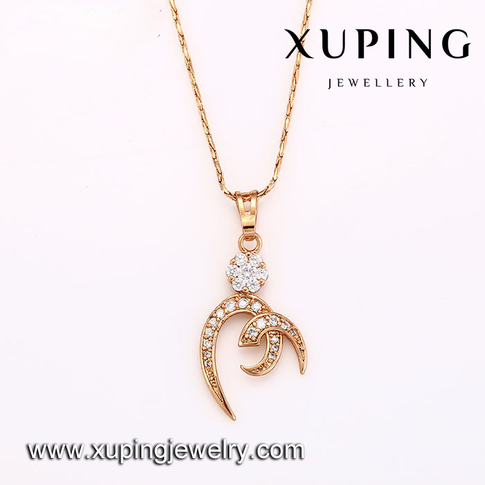 31879 Initial design xuping wholesale latest design rose gold fashion pendant