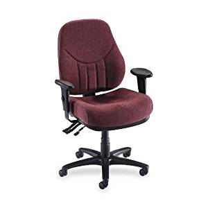 Lorell - Multi-Task Chair,High-Back,26-7/8quot;x26quot;x39quot;-42quot;-1/2quot;,Burgundy, Sold as 1 Each, LLR 81102