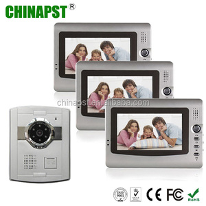 Good price LCD monitor Handsfree color multi apartment 7 inch doorbell intercom video door phone china PST-VD906C