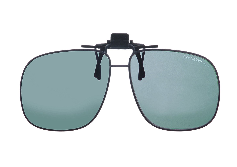 95a069b70cd Get Quotations · BluBlocker ColorVision Clip On Sunglasses 61 width lens