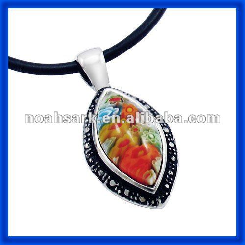 Factory price wholesale jewelry Murano Glass Pendant.Dichroic Glass Pendant TPMU222#