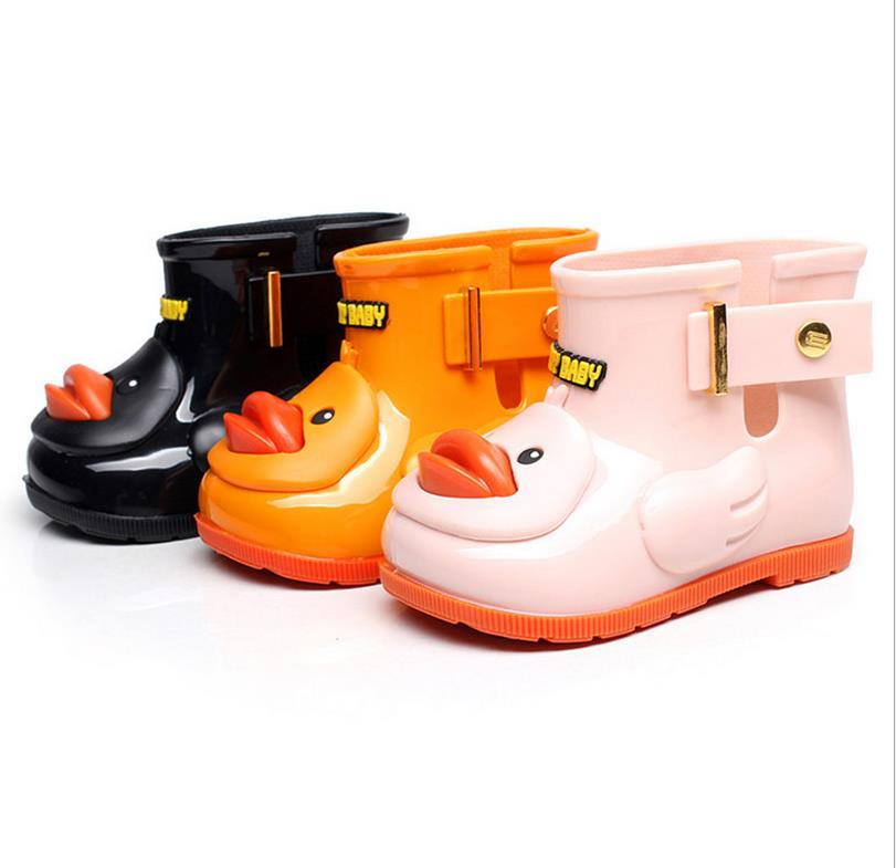 children hot selling PVC clear rain jelly boots