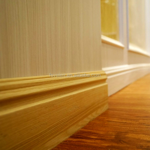 Flooring covering accessories pvc wall skirting, custom wpc flooring skirting for home decoration