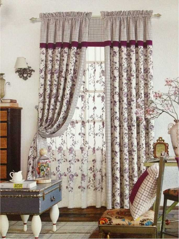 Rainbow Colored Bali Readymade Curtains for Kitchen