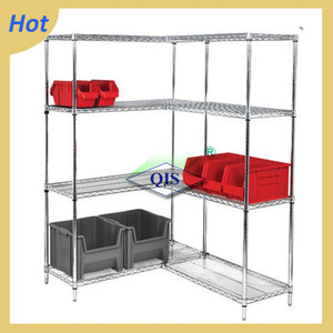 4 layers plastic coated corner wire shelving