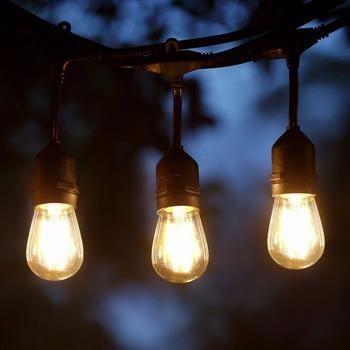 48ft Outdoor String Lights Set S14 Led