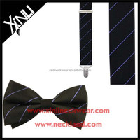 100% Silk Jacquard Woven Men Suspenders And Bow Tie