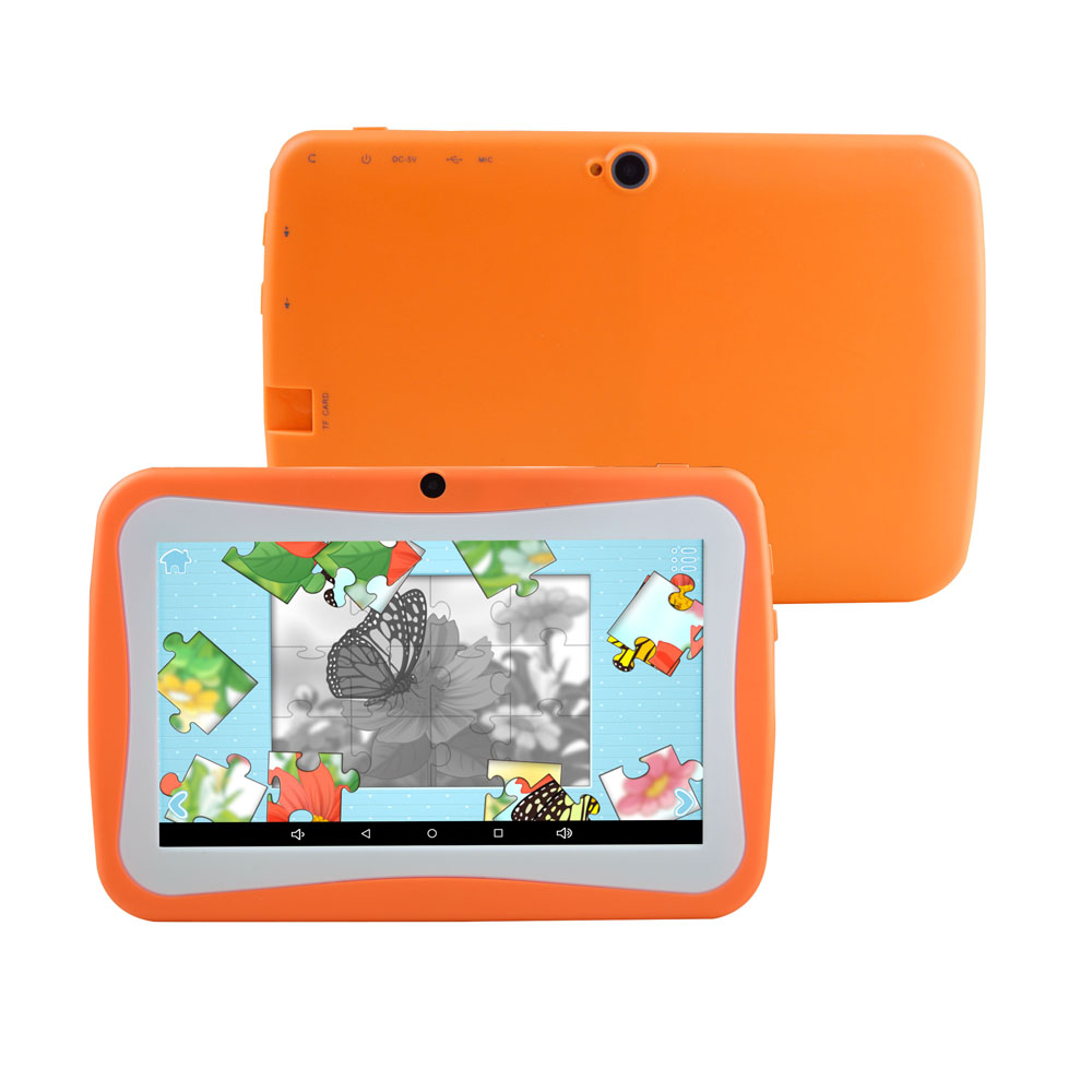2019 New 7 inch children educational learning android kids tablet with silicon case stand