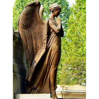 Handmade bronze life size pray angel statues sculpture