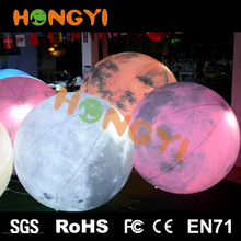 Custom decorative luminous hanging ball LED light Inflatable planet self inflating helium balloons Quality assurance